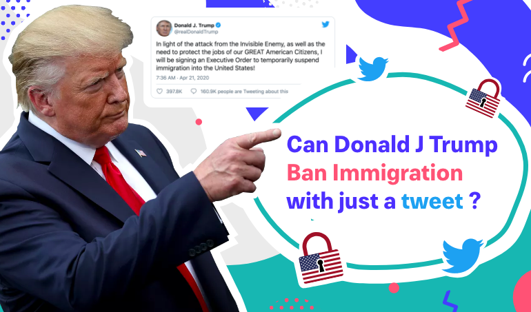 Can Donald J Trump ban immigration with just a tweet?